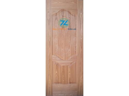 Da cửa hdf 3 panel oval phủ veneer ASH