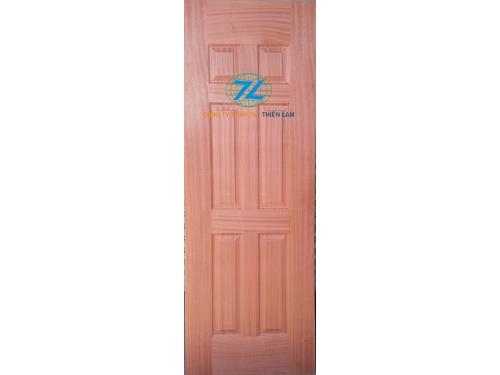 Da cửa hdf 6 panel phủ veneer sapele